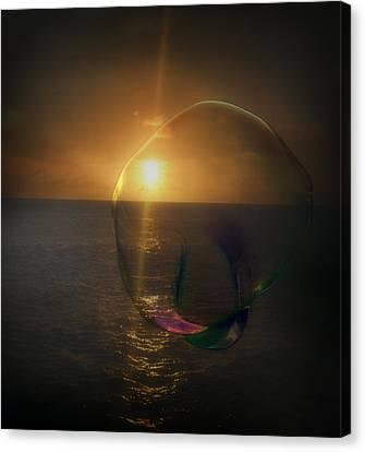 Sunset Bubble Canvas Print
