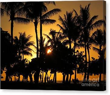 Sunset By The Beach Canvas Print by Ranjini Kandasamy