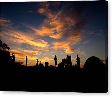 Captwolf96 Canvas Print - Sunset Camp by Donnie Freeman