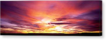 Sunset, Canyon De Chelly, Arizona, Usa Canvas Print by Panoramic Images