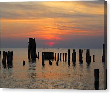 Sunset Cape Charles Canvas Print by Richard Reeve
