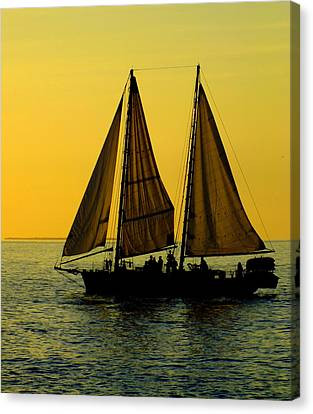 Sail Cloth Canvas Print - Sunset Celebration by Karen Wiles