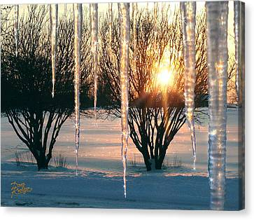 Canvas Print featuring the photograph Sunset 'cicles by Doug Kreuger