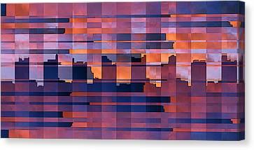 Sunset City Canvas Print by Ben and Raisa Gertsberg
