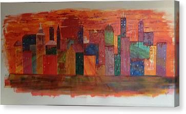 Sunset City Canvas Print by Judi Goodwin