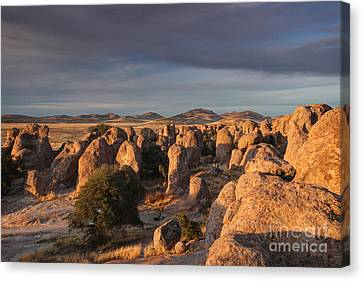 Canvas Print featuring the photograph Sunset City Of Rocks by Martin Konopacki