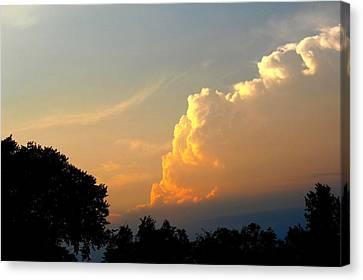 Sunset Clouds Building Canvas Print