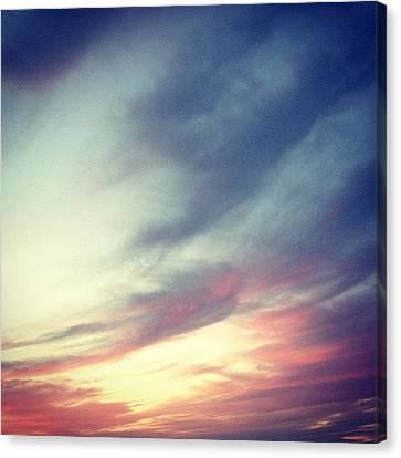Abstract Canvas Print - Sunset Clouds by Christy Beckwith