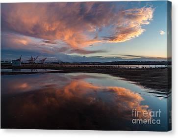 Sunset Clouds Flourish Canvas Print