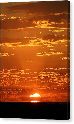 Canvas Print featuring the photograph Sunset Clouds by Henry Kowalski