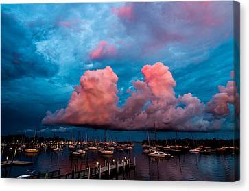 Sunset Clouds Canvas Print by Jonathan Gewirtz