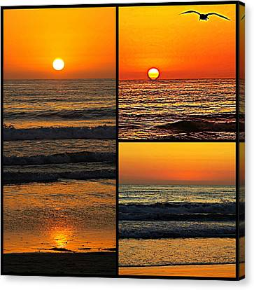 Sunset Collage Canvas Print by Sharon Soberon