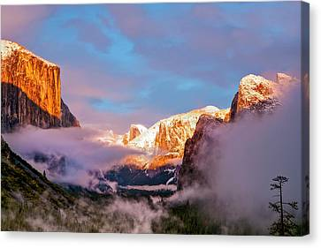 Inspiration Point Canvas Print - Sunset Colors The Classic Tunnel-view by Tom Norring