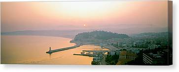 Historic Architecture Canvas Print - Sunset Cote Dazur Nice France by Panoramic Images