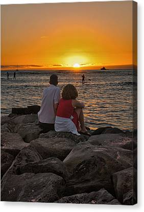 Canvas Print featuring the photograph Sunset Moment by John Swartz