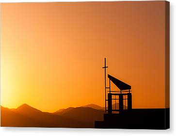 Sunset Cross Canvas Print by Teri Virbickis