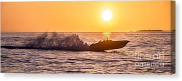 Sunset Cruise Canvas Print by Jon Neidert