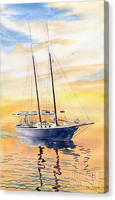Sunset Cruise Canvas Print by Melly Terpening