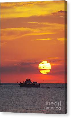 Canvas Print - Sunset Cruise by Tannis  Baldwin