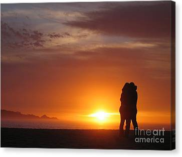 Sunset Cuddle Canvas Print by James B Toy