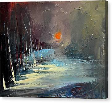 Sunset Canvas Print by David Figielek