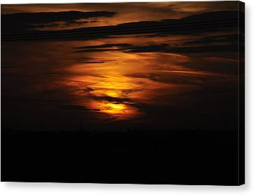 Fire In The Sky Canvas Print by David King