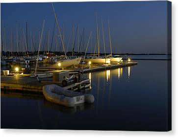 Sunset Dock Canvas Print by Charles Beeler