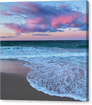 Sunset East Square Canvas Print by Bill Wakeley
