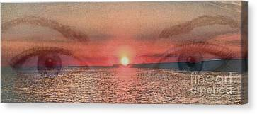 Canvas Print featuring the photograph Sunset Eyes Inspirational Art By Saribelle Rodriguez by Saribelle Rodriguez