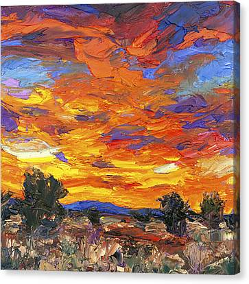 Sunset Fantasy Canvas Print by Steven Boone