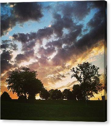 Canvas Print featuring the photograph Sunset Federal Hill by Toni Martsoukos