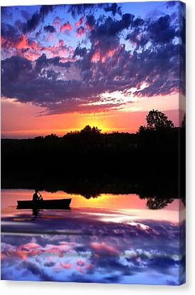 Sunset Fisherman Canvas Print by Rod Seel