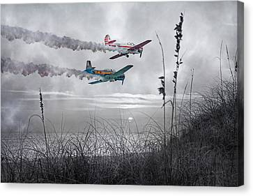 Sunset Flight Canvas Print by Betsy Knapp