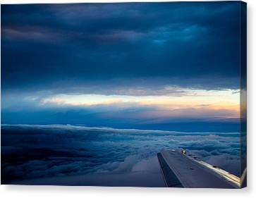 Canvas Print featuring the photograph Sunset From Above The Clouds by Cathy Donohoue