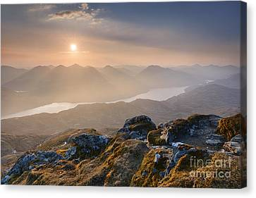 Sunset From Ben Lomond Canvas Print