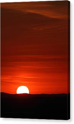 Sunset From Cadillac Mountain Canvas Print