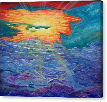 Sunset From Clouds Canvas Print by Chris RoseS