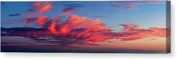 Sunset From Haleakala Canvas Print by Babak Tafreshi