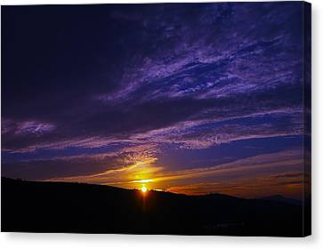Sunset From Lyle Wa Canvas Print by Jeff Swan