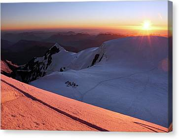 Sunset From Mont Blanc Canvas Print