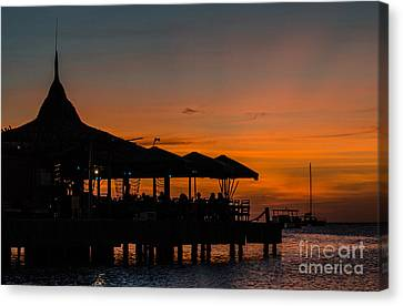 Sunset From Pelican Pier Canvas Print