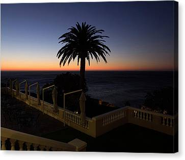 Sunset From Porch Of Ellerman House Canvas Print by Panoramic Images