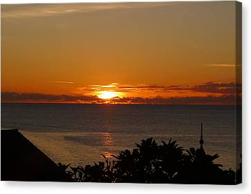 Sunset From Terrace - St. Lucia 2 Canvas Print