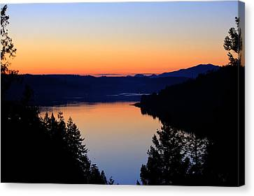 Sunset From The Deck Canvas Print
