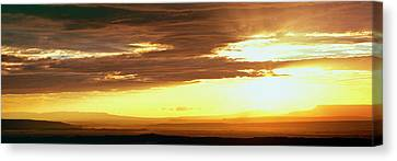 Sunset From The Rim Of Canyon De Chelly Canvas Print by Panoramic Images