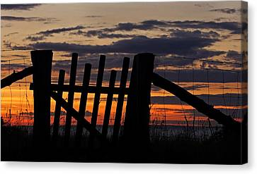 Sunset Gate Canvas Print