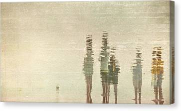 Canvas Print featuring the photograph Sunset Gathering by Kevin Bergen