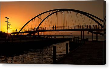Canvas Print featuring the photograph Sunset Glow by Kim Andelkovic