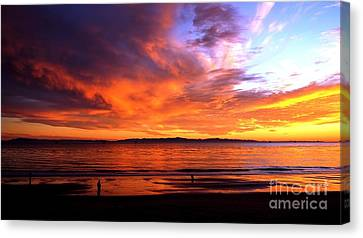 Canvas Print featuring the photograph Sunset Glow by Sue Halstenberg