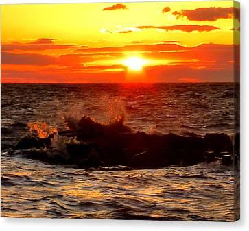 Sunset Gold Canvas Print by Glenn McCurdy